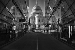 New Change St.Paul's (cuppyuppycake) Tags: st pauls london uk england black white bnw reflection buildings outdoor new change