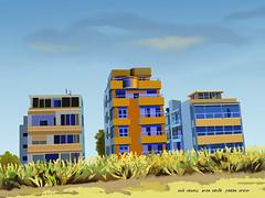 Three Houses.Created by Photoshop November 2016