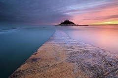 Colourful Cornwall (Tony Armstrong-Sly) Tags: mountsbaycornwall cornwall coast britain uk mountsbay jetty sunset castle sea britishisles landscape seascape nature