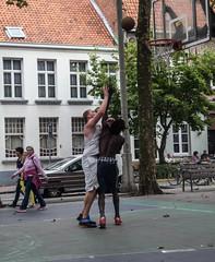 In the basket (1 of 1) (Jan Herremans) Tags: belgium antwerpen basket ball sint jans vliet square tall
