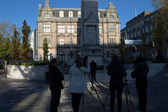 Filming at the Cenotaph, Preston (Tony Worrall) Tags: preston north northwest lancs lancashire england northern uk update place location visit area county attraction open stream tour country welovethenorth unitedkingdom cenotaph city centre filming people prestonian light lit sunlit