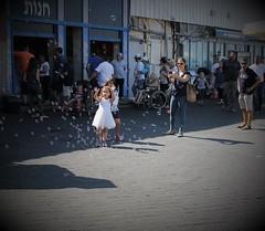 Chasing illusions... (Photogioco) Tags: israel jaffa town old artist neighborhood seaview travel turist fun fishing port porto pescatori citta vecchia viaggiare vista mare architettura allaperto edificio bambina bolledisapone