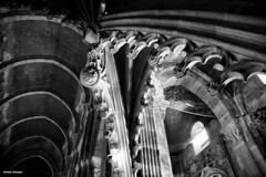 Cattedrale di Autun  BW - architetture (antosti) Tags: francia autun cattedrale architettura interni marmo volta bw nikon d70s borgogna heritage