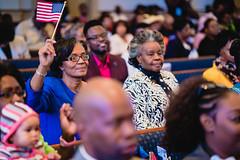 Divine Worship-23 (Atlanta Berean Church - photos.atlantaberean.com) Tags: flag woman