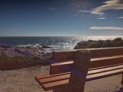 Happy Bench Monday (Some Strange Lady) Tags: southafrica view westcoast benchmonday bench ocean sea atlantic lambertsbay
