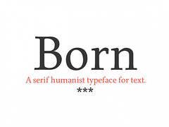 Free Born: A free serif humanist typeface (vectorarea) Tags: fonts nicefont serif