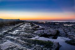 Goodbye November (jong1982@ymail.com) Tags: beach sunset seascape november rocks pools sea steps sand landscape sky moss green blue purple