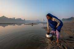 MYI_6273 (yaman ibrahim) Tags: india agra nikon d3 tajmahal yamuna morning water saree mis misty