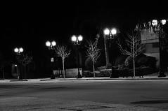 Street Lights (J-Fish) Tags: streetlights lights night saratogasunnyvale street blackandwhite bw sunnyvale california d300s 1685mmvr 1685mmf3556gvr