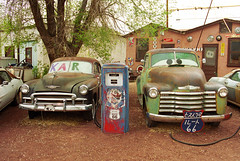Route 66 - Snow Cap Drive-In (Frank Footer Fotos) Tags: auto road trip travel vacation arizona usa snow southwest west art classic cars chevrolet ice wall america truck vintage movie photography freedom restaurant drive town cafe eyes juan cone framed famous small fine mother cream murals pickup az roadtrip mater 66 historic retro drivein adventure pump business route nostalgia chevy bumper cap burgers posters buy vehicle prints americana kicks motor roadside rt joint attractions seligman snowcap delgadillo