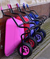 The Barrow Gang (Nanny Bean) Tags: wheelbarrow doncaster saddlery