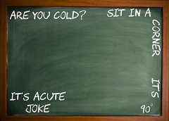 Acute Joke (Marty Woodcock) Tags: chalk joke math chalkboard