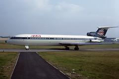 G-AWZT-PIK1973copy (MarkP51) Tags: plane airplane scotland airport bea image aircraft aviation 3b kodachrome prestwick pik trident britisheuropeanairways egpk aviationphotography hs121 gawzt hawkersiddely markp51