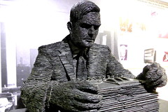 Bletchley Park Buckinghamshire 17th October 20154 (loose_grip_99) Tags: sculpture statue alan october miltonkeynes buckinghamshire turing bletchleypark 2015
