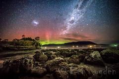 Aurora Australis and Milky way from Southern Tasmania. (Ben Sugden) Tags: night long exposure sony south aurora tasmania f28 milkyway 14mm samyang