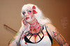 Bloody Horror Woman Costume (shaire productions) Tags: portrait people sculpture woman cinema film halloween girl monster lady female pose dark person costume scary blood model image cosplay zombie gothic goth picture dressup eerie event fantasy photograph convention horror undead sacramento creature burlesque pinup genre rubenesque bloodly sinistercreature sinistercreaturecon