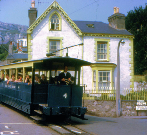Great Orme Tramway - Car 4 approaches Llandudno Victoria Station on the 23rd August 1967