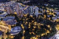 Modern Bogota (Bernai Velarde-Light Seeker) Tags: santa plaza city urban modern night america de noche bogota maria south ciudad sur urbano toro moderno bullring cundinamarca velarde bernai