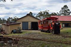 Train shunting at Ida Bay