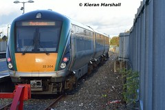 22004 at Newbridge, 7/11/15 (hurricanemk1c) Tags: irish train rail railway trains railways newbridge irishrail rok rotem 2015 icr 22004 iarnród 22000 éireann iarnródéireann 3pce 1425heustonnewbridge