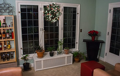 party at my house 02 - 2015-12-06 (Tim Evanson) Tags: christmas christmastree garland wreath myhouse poinsettias christmas2015