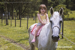 Catharina (Stefan Lambauer) Tags: brazil horse baby nature brasil landscape kid infant br sopaulo santos campo criana menina cavalo branca gua catharina 2015 stefanlambauer kodak2395 kodak5218