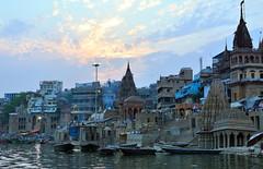 The holy ghat of Manikarnika, Varanasi (draskd) Tags: varanasi ganges benares manikarnikaghat varanasighats