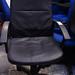 Black leatherette high back chair