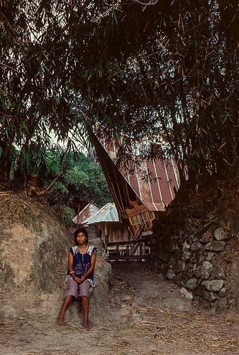Village entrance Lake Toba