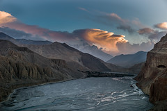 Sunset on Kali Gandhaki (Agnes Cassiere) Tags: trek mustang népal chele kaligandaki octobre2015 tousdroitsréservés©agnèscassière ©agnèscassièrephotography