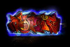 OHMY (bobsnikond200) Tags: graffiti ohmy lightpainting longexposure long exposure light painting