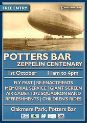 Potters Bar Zeppelin Poster (greentool2002) Tags: potters bar zeppelin poster