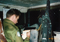 1992 UNIFIL - Writing home to the family. (Normann Photography) Tags: 1992 19921029 426cp bjrnnormannjr fntjeneste forsvaret lebanon libanon unifil unitednationsinterimforceinlebanon communication letter nattevakt nightwatch writing kaoukaba nabatieh israel lb
