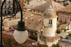architectural details (ludi_ste) Tags: architettura architecture hydraulicpump lampione streetlamp buidings palazzi genova genoa