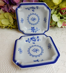 Spode Ashtrays ~ New Stone ~ Gloucester Y2989 (Donna's Collectables) Tags: spode ashtrays gloucester y2989 thanksgiving christmas