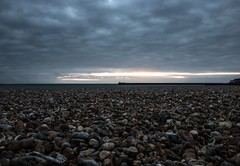 Depth of Vision (L Harmer Photography) Tags: beach stones pebbles sea water lighthouse sunset sky landscape l harmer photography canon eos dslr 760d