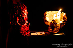 (Paul Cory) Tags: 21cmuseumhoteldurham availablelight book camera candle candlelight colorefexpro4 costume downtowndurham durham fire flames fujicamera fujilens fujifilmxt2 fujifilmxf56f12r lens lighting litcandle mask naturallight niksoftware northcarolina people postprocessing skull unitedstates camera:make=fujifilm camera:model=xt2 exif:focallength=56mm exif:model=xt2 geolocation exif:make=fujifilm exif:isospeed=3200 exif:lens=xf56mmf12r exif:aperture=28
