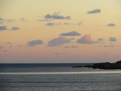 Sun setting behind the mountains. (~Ingeborg~) Tags: meinge sunsetting ondergaandezon clouds wolken zee sea paleochora berg mountain greece griekenland kreta crete