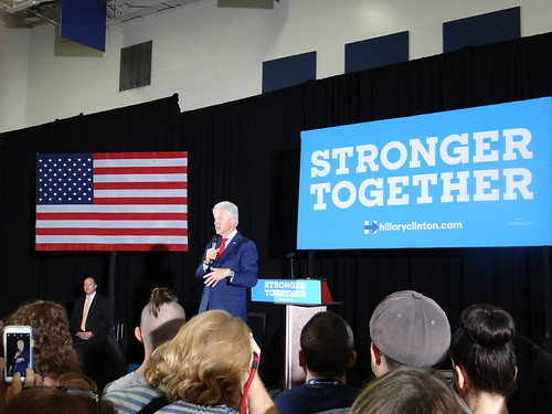 From flickr.com: Hillary's first biggest liability, her totally undependable husband, and her second: her totally vacuous slogan. {MID-284832}