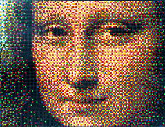Beaded Mona Lisa (Orbmiser) Tags: 70300vr autumn d90 fall nikon oregon portland face monalisa framed art beaded