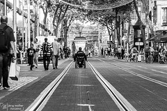Keep Rollin' (Joe M. Photography) Tags: street streetlife streetphotography streetphoto urban urbanexploring karlsruhe germany city citylife explore exploreyourcity life wheelchair rebel tram tramway blackwhite travel travelgram lifestyle culture photo photography canon eos