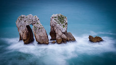 Ethereal... (TanzPanorama) Tags: nature rock rockformation spain northernspain cantabria seascape waterscape europe europa tanzpanorama sonya7ii sonyilce7m2 fe1635mmf4zaoss fe2470mmf4zaoss sel1635z sel2470z zeiss ndfilter 10stopnd haidapro30 haidapro10 longexposure ng cantabriansea coast costa costacantabrica liencres pielagos erosion sea water stone atlantic bayofbiscay ethereal