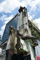 Reincarnation - Phayathai, Bangkok (jcbkk1956) Tags: bangkok thailand street building new modern old derelict reincarnation phayathai nikon nikkor d3300 1855mmf3556 graffiti ratchathewi
