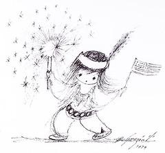 Happy Veterans Day! (DeGrazia Gallery in the Sun) Tags: teddegrazia degrazia ettore ted artist galleryinthesun artgallery gallery nationalhistoricdistrict foundation nonprofit adobe architecture tucson arizona az santacatalinas desert sketch veteransday
