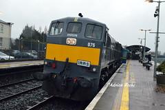 Irish Rail GM 076 In Mallow With The IRRS April Railtour. (Roche B10M VanHool) Tags: irish rail gm 076 in mallow with the irrs april railtour