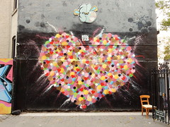 Heart (aestheticsofcrisis) Tags: street art urban intervention streetart urbanart guerillaart graffiti newyork newyorkcity ny nyc lowereastside hektad