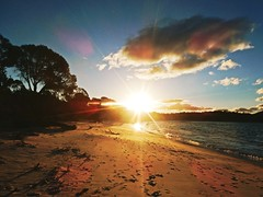 Sunset in Wineglass beach - Tasmania - Australia (pacoalfonso) Tags: pacoalfonsocom travel australia tasmania sunset wineglass bay beach