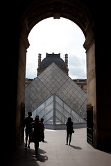 Path to The Louvre (Mikey Down Under) Tags: thelouvre louvre art museum paris france francais glass pyramid building architecture landmark