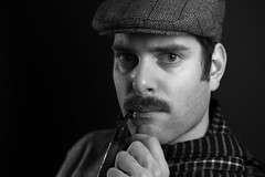 movember (CHCaptures) Tags: movember male me selfie monochrome blackandwhite model studio lowkey sony ilce7m2 sel55f18z