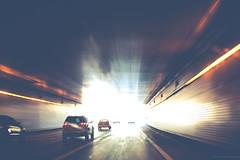 Lowry Hill Tunnel (michaelraleigh) Tags: autumn highquality minneapolis hdr canon longexposure 18135mm road bokeh hidden infocus car vintage minnesota green unitedstates gray lowryhilltunnel blurred